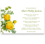 Sympathy Cards: Beautiful Antique Yellow Rose