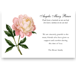 Sympathy Cards: Pale Pink Peony