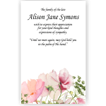 Sympathy Cards: Quiet Thoughts