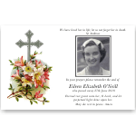 Sympathy Cards: Cross with Flowers