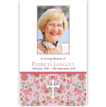 Photo Funeral Thank You Card: Eternally Loved with Cross
