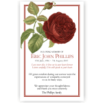 Sympathy Cards: Red Rose