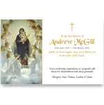 Sympathy Cards: The Virgin with Angels
