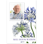 Photo Funeral Thank You Card: Agapanthus Blue