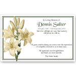 Sympathy Cards: White Lilies 1