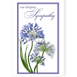 Personalized Condolence Card: Agapanthus