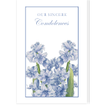 Personalized Condolence Card: Hyacinth