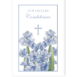 Personalized Condolence Card: Hyacinth with Cross