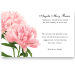 Sympathy Thank You Template: Antique Peonies