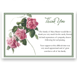 Sympathy Thank You Template: Tea Rose