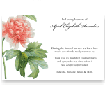 Sympathy Thank You Template: Botanical Peony