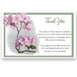 Sympathy Thank You Template: Heritage Rhododendron