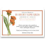 Sympathy Thank You Template: Orange Blooms