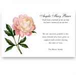 Sympathy Thank You Template: Pale Pink Peony