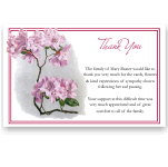 Sympathy Thank You Template: Pink Rhododendron