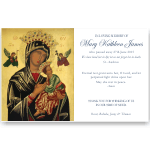 Sympathy Thank You Template: Our Lady of Perpetual Help